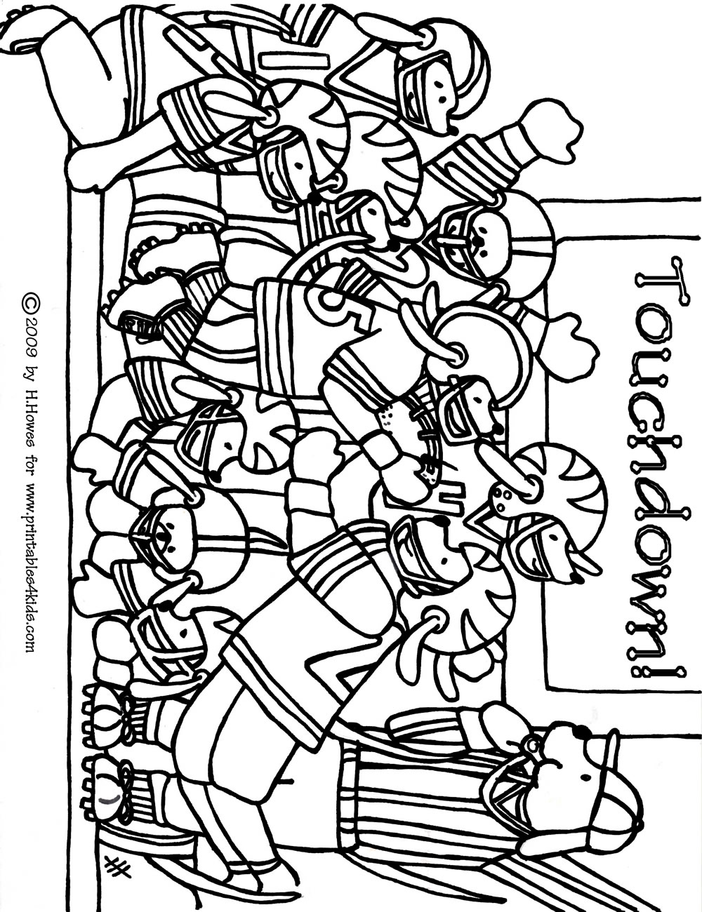 Football Coloring Pages For Kids Printable At Getdrawings Com Free