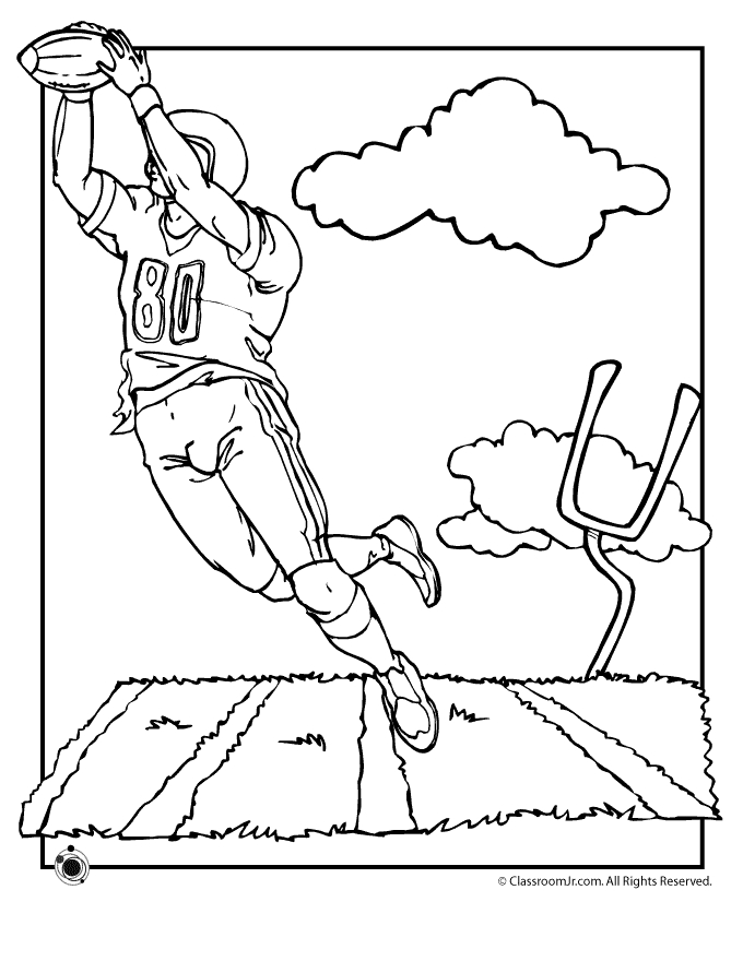 Football Coloring Pages Free Printable