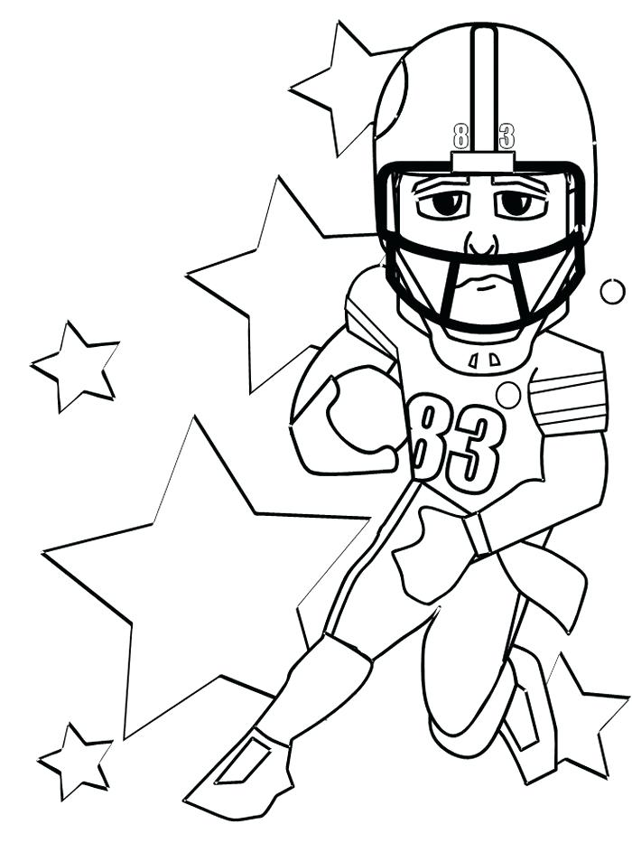 700x933 Football Coloring Pages For Kids Football Color Pages College