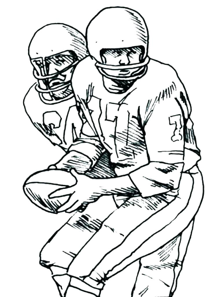 Football Coloring Pages Free Printable At GetDrawings Free Download