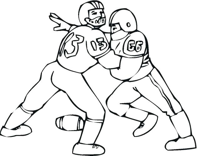 630x499 Printable Sports Coloring Pages Football Player Printable Coloring