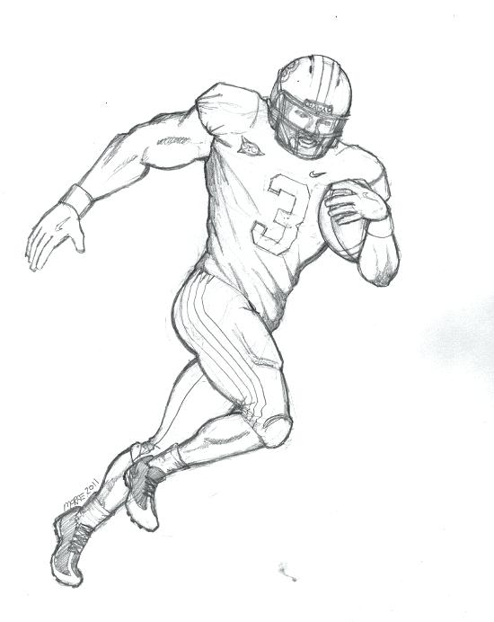 550x692 Football Coloring Pages Printable Football Player Coloring Sheets