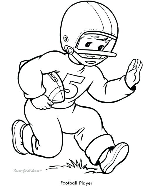 520x636 Football Coloring Pages Sheets For Kids Football Coloring Pictures