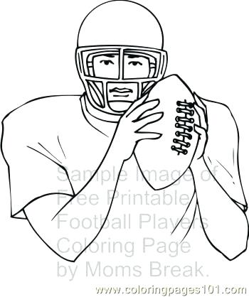 350x418 Free Printable Football Coloring Pages Player Page Print