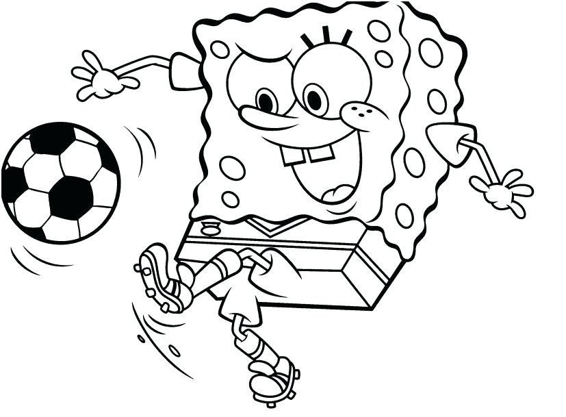 827x609 Football Coloring Page