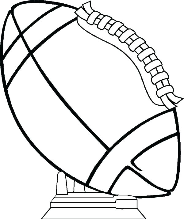 600x715 Football Coloring Page Pics Photos Pages Football Coloring Pages