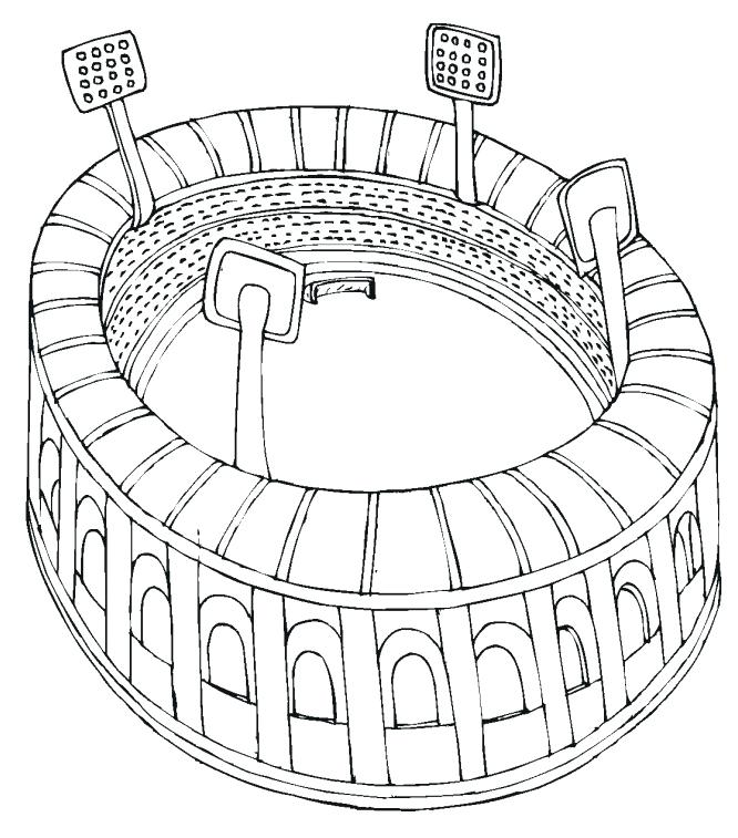 666x757 Football Field Coloring Page Coloring Page Sporturka Printable