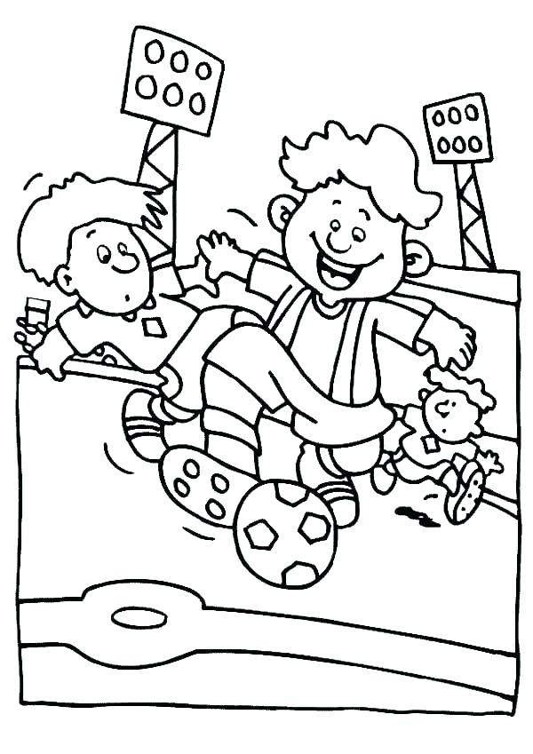 600x849 Football Field Coloring Page Soccer Fun Coloring Page Soccer