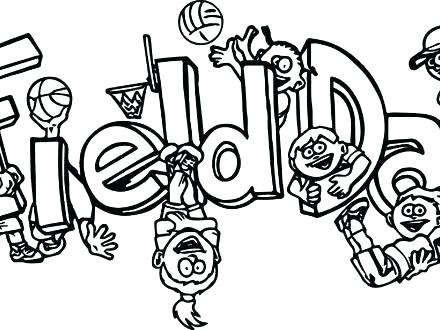 440x330 Football Field Coloring Pages Field Day Coloring Sheet Days