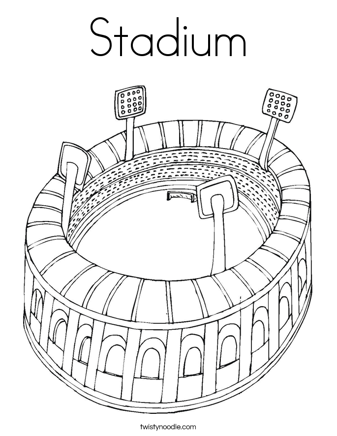 685x886 Stadium Coloring Page