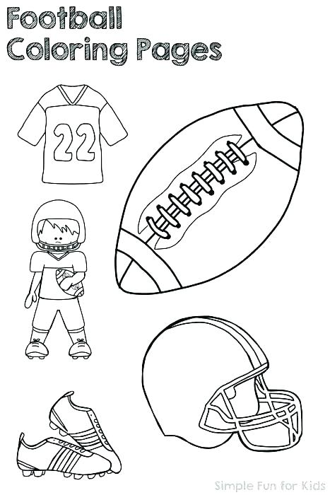 467x700 Football Field Coloring Pages