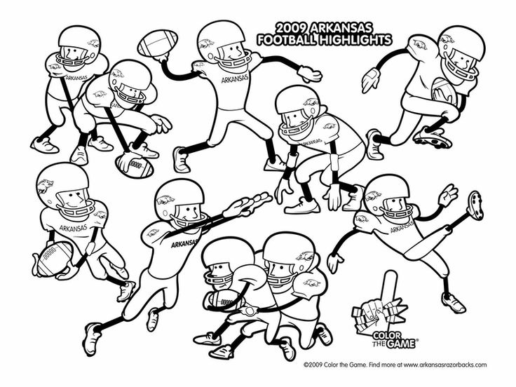 Football Game Coloring Page