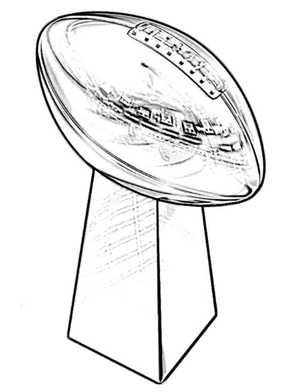 600x776 Super Bowl Trophy Coloring Pages