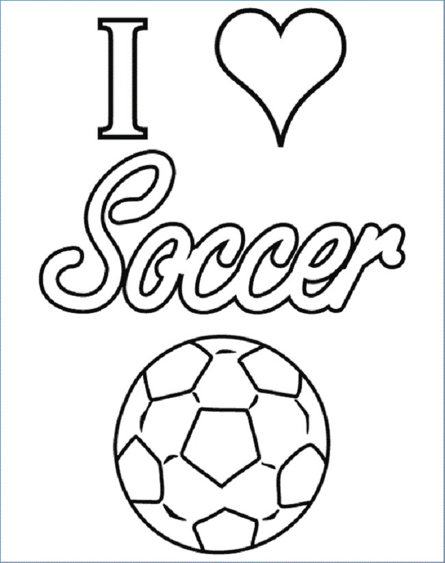 650x822 Soccer Goal Coloring Pages