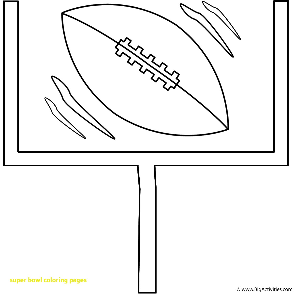 1200x1200 Super Bowl Coloring Pages With Football With Goal Post Coloring