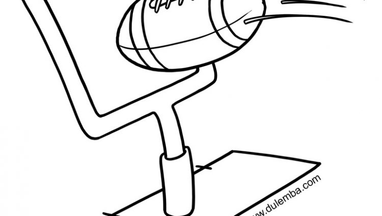 750x425 Football Goal Post Coloring Page Dulemba Coloring Page Tuesday