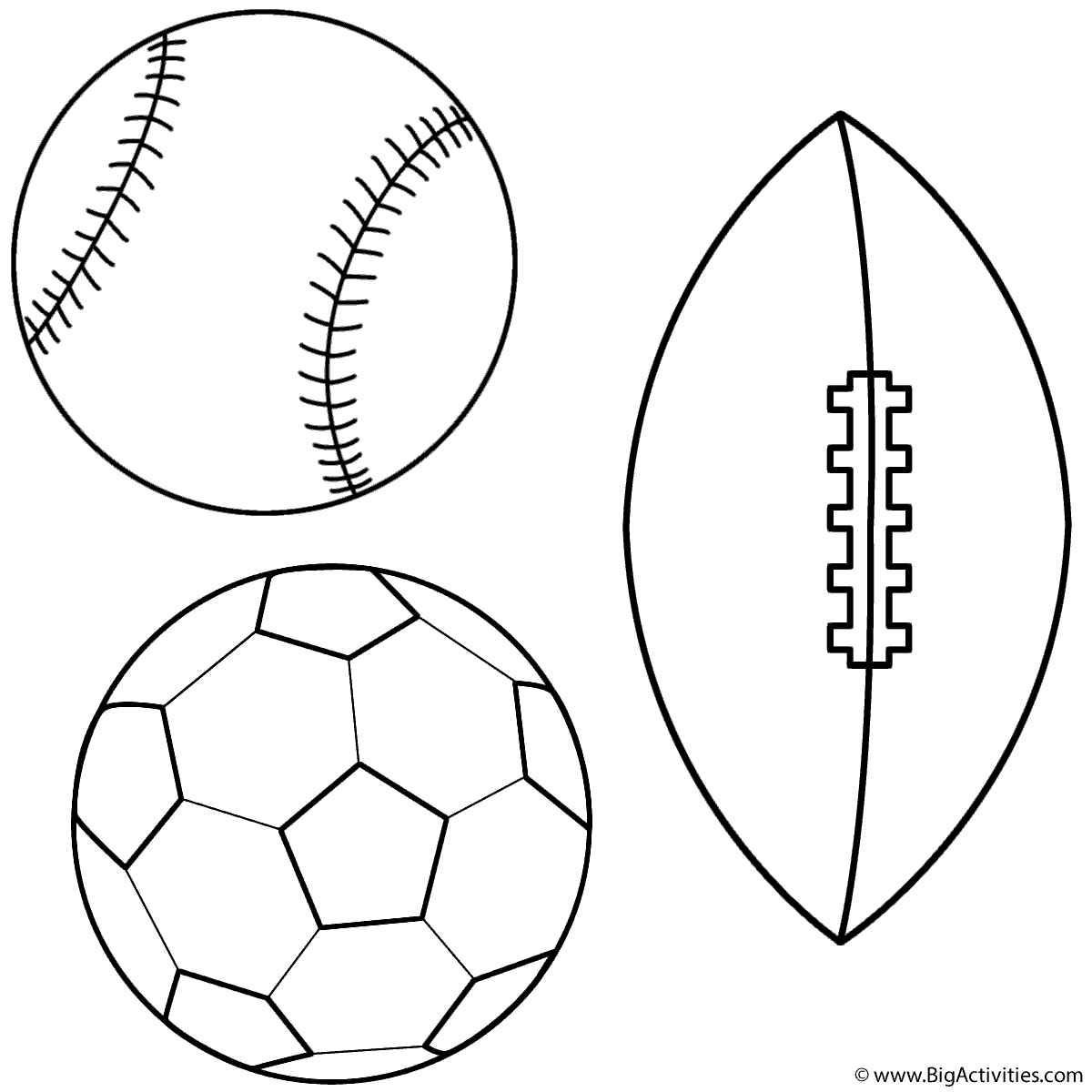 1200x1200 Baseball, Soccer Ball And Football