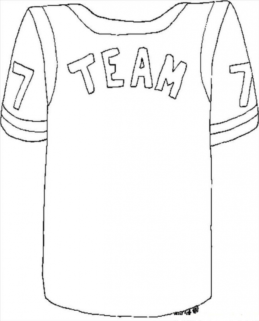 826x1024 Football Jersey Coloring Page