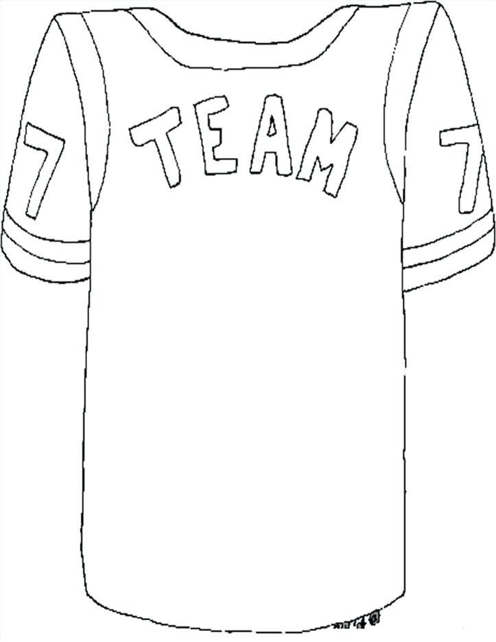 723x935 Football Jersey Coloring Page S Blank Football Jersey Coloring