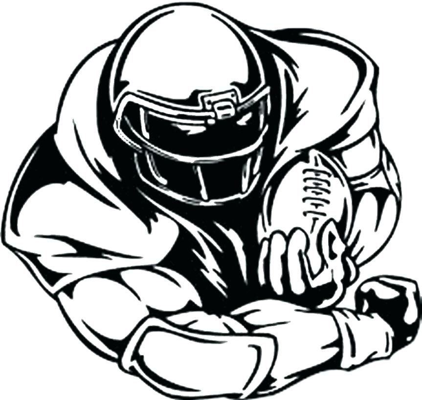 863x818 Football Player Coloring Page Football Coloring Pages To Print