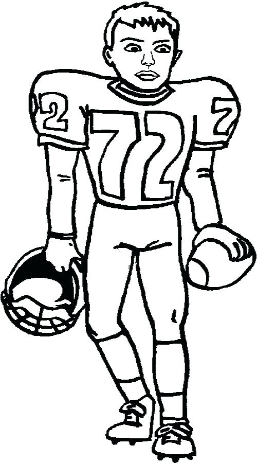 500x900 Football Player Coloring Sheet Football Player Coloring Page
