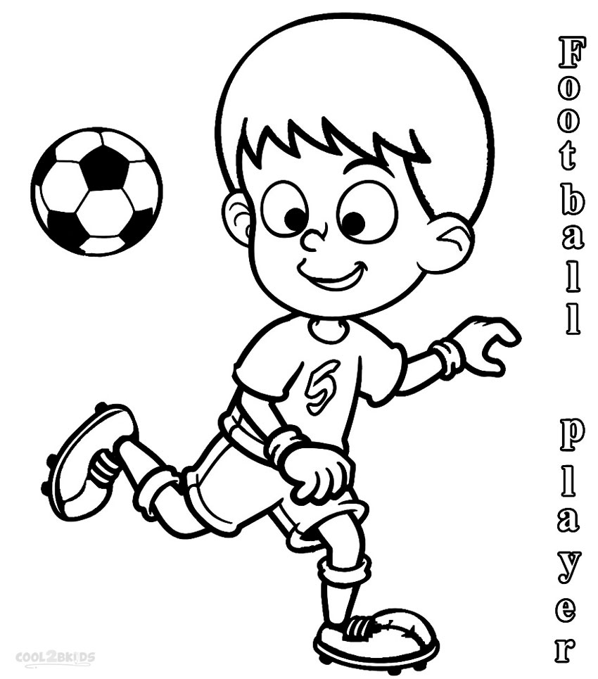 Football Player Coloring Pages At Getdrawings Com Free For