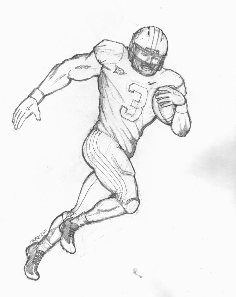 Football Player Coloring Pages at GetDrawings.com   Free for ...