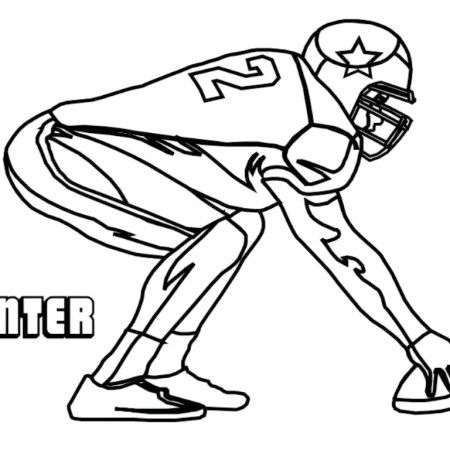 450x450 Dallas Cowboys Players American Football Teams Coloring Pages