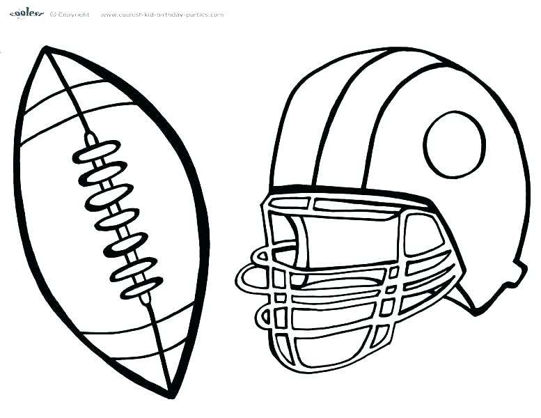 777x600 Football Coloring Page