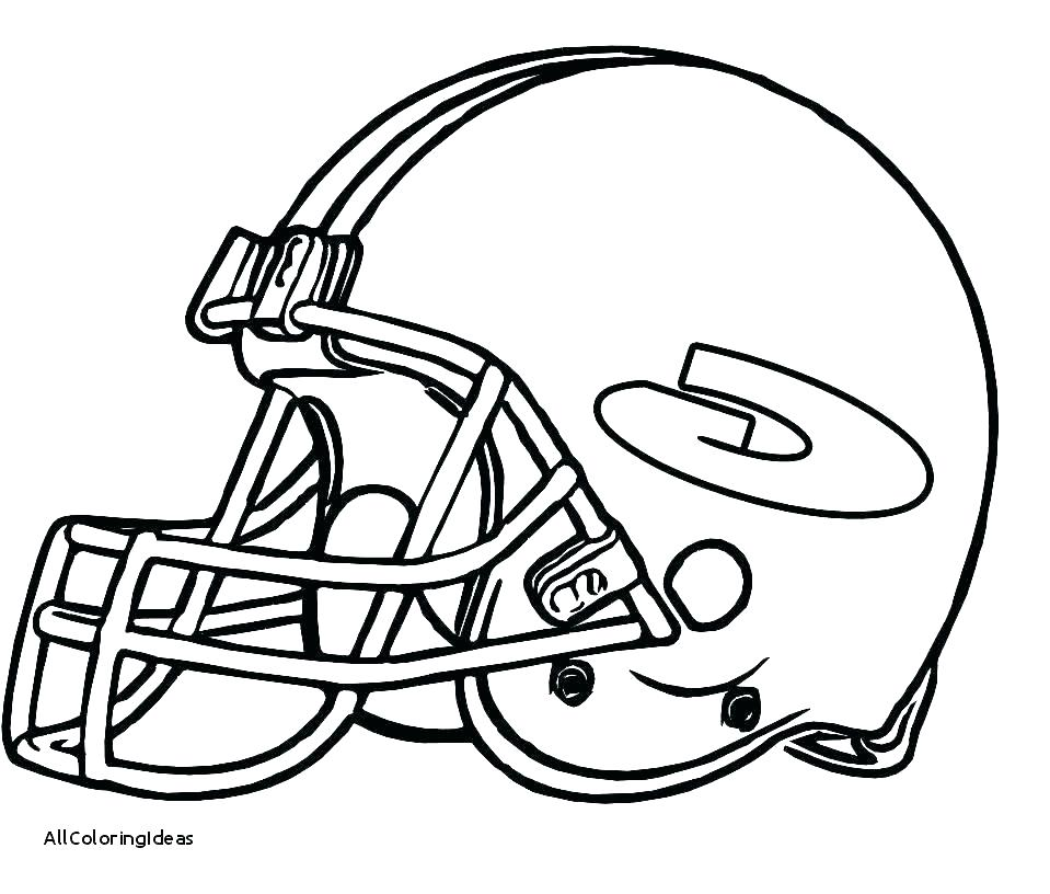 959x816 Football Helmet Coloring Page