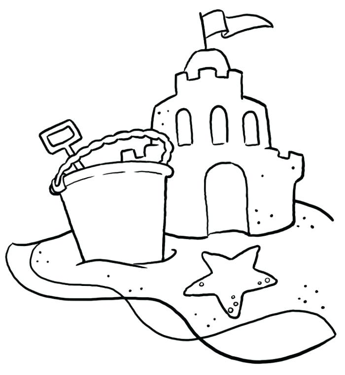 700x762 Coloring Sand Sand Coloring Pages Kids Sand Castle Coloring Page