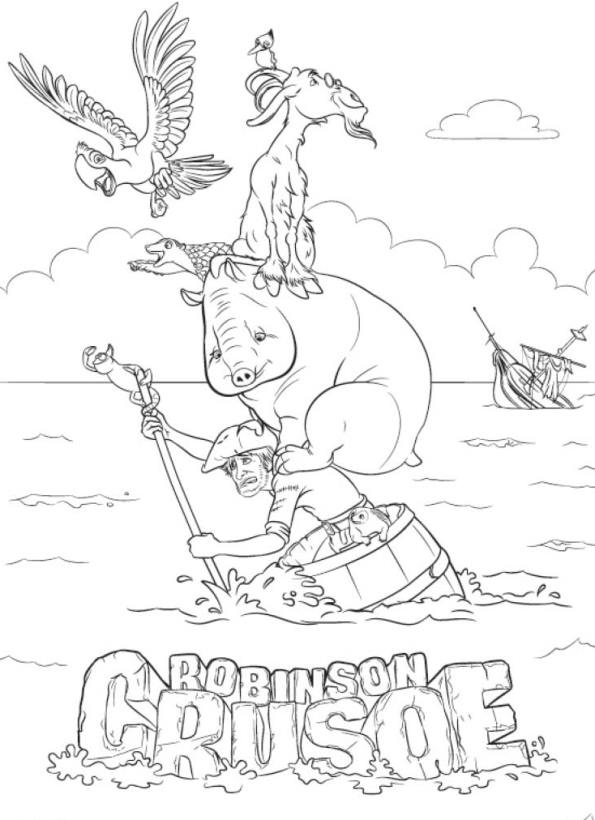 595x820 Robinson Crusoe Coloring Pages