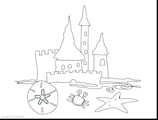 618x470 Sand Coloring Beach Sand Castle Coloring Pages Sandbox Designs