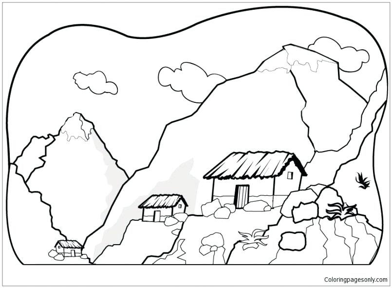 805x591 Footprints Coloring Page