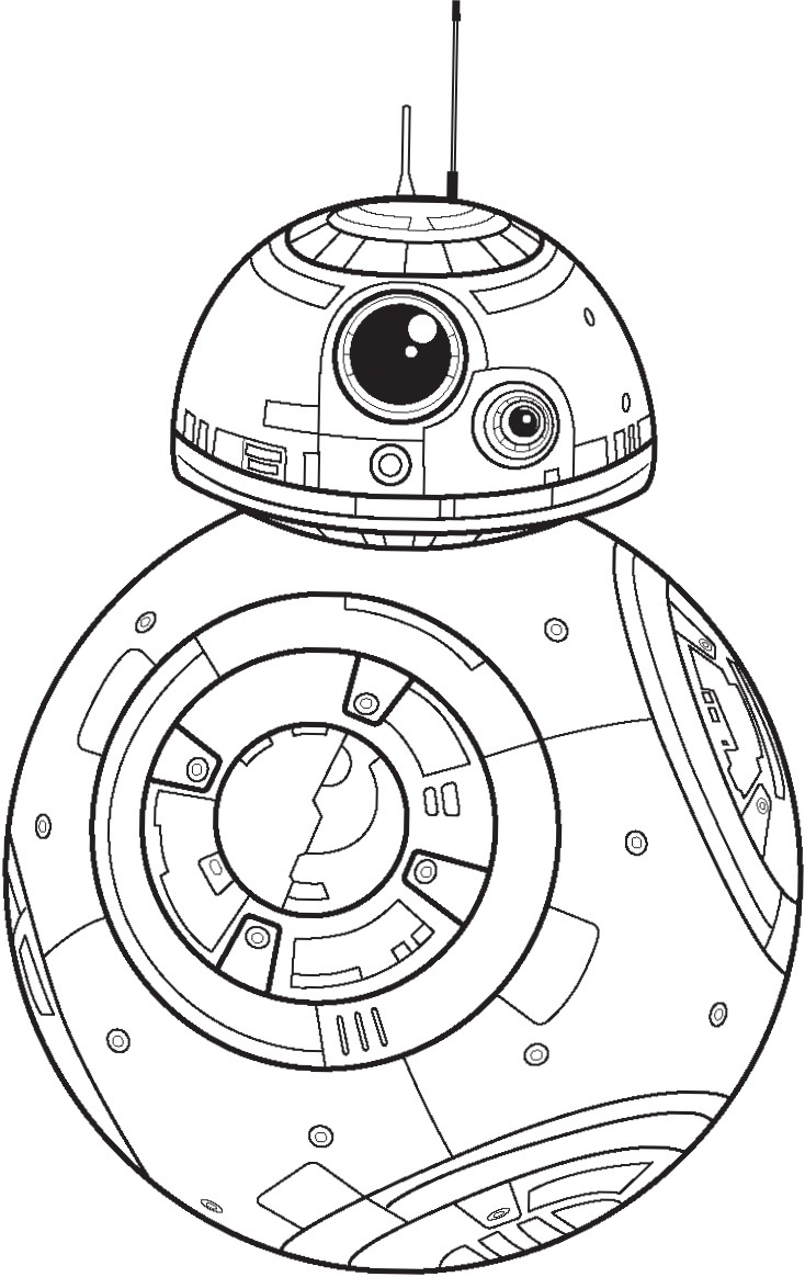 734x1164 Polkadots On Parade Star Wars The Force Awakens Coloring Pages