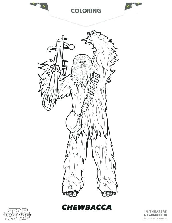 600x776 Star Wars The Force Awakens Coloring Page Free Chewbacca Coloring
