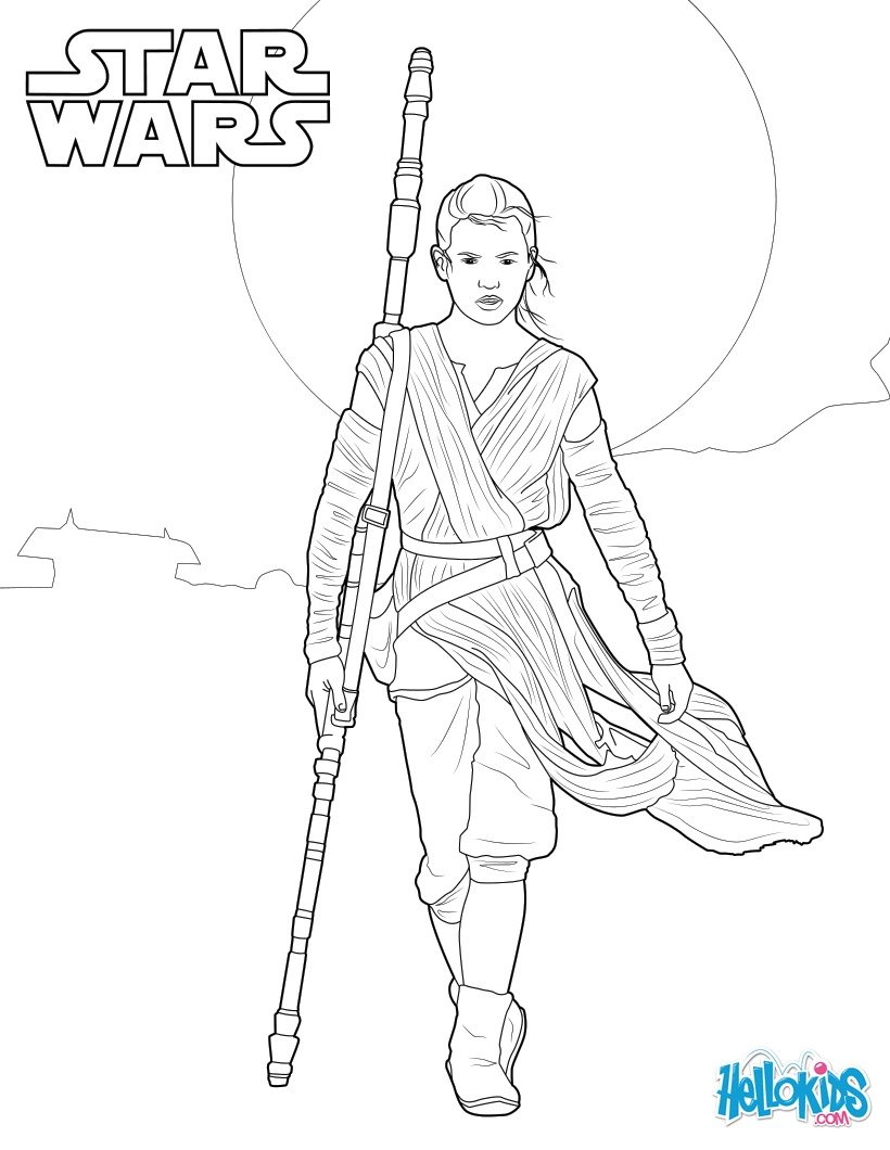 820x1060 Wars The Force Awakens Coloring Pages