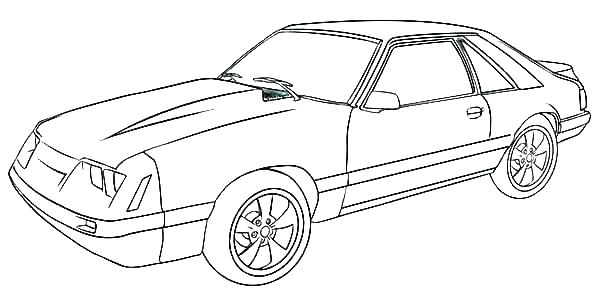 600x300 Ford Coloring Pages Mustang Page Pa