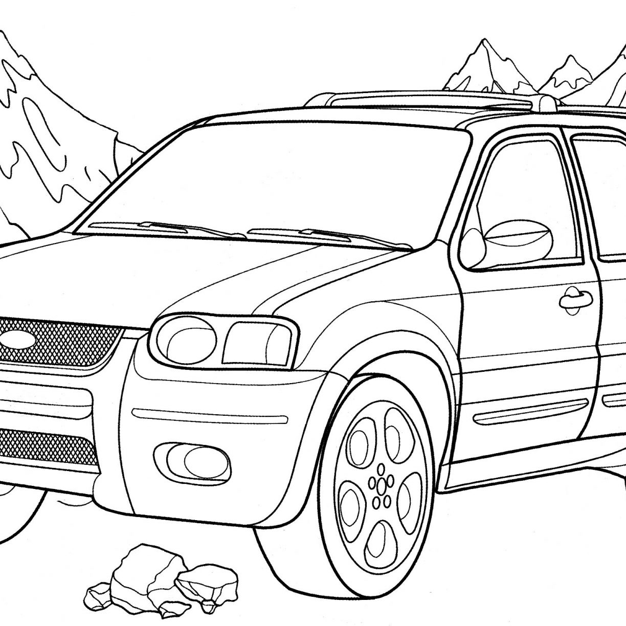 1224x1224 Ford Dually Lifted Coloring Page Free Pages Printable General