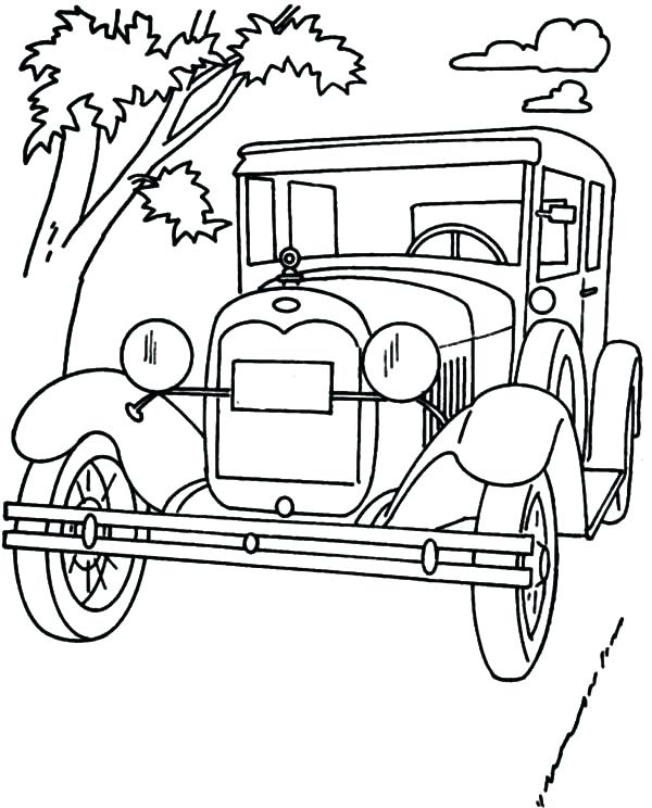 600x744 Ford Sport Coloring Page Ford Sport Coloring Page Old Ford Truck