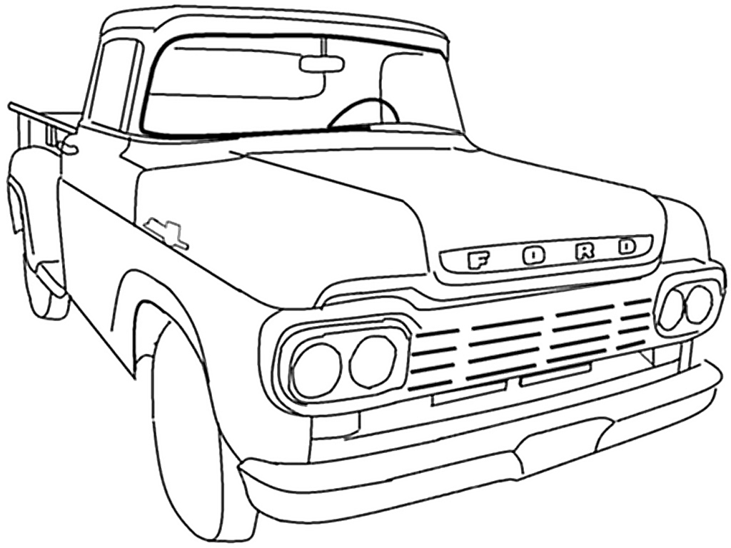 1024x768 New Ford Coloring Pages Design Gallery Free Coloring Sheets