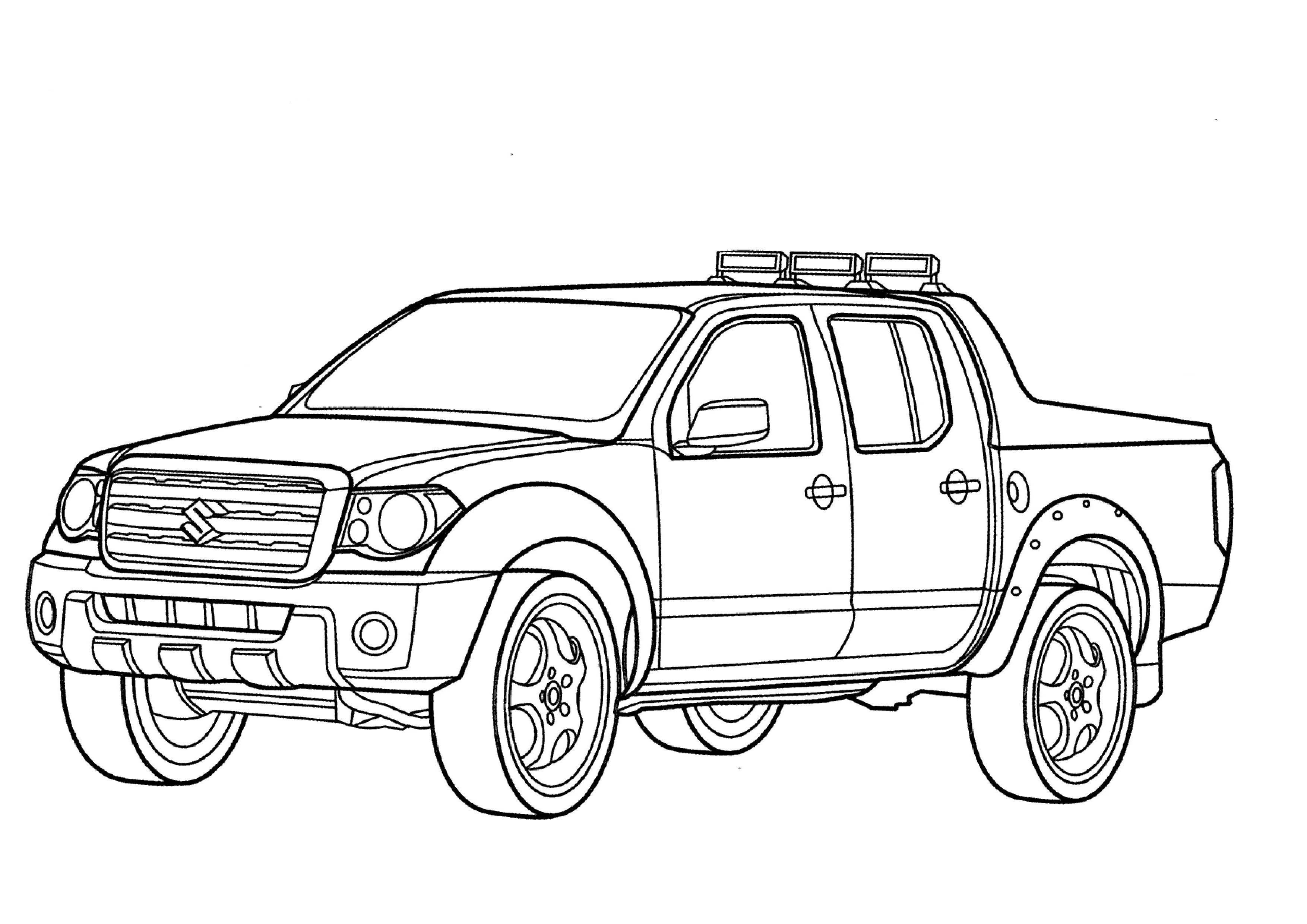 3508x2480 Unusual Ford Coloring Page Pickup Truck Free Printable Pages