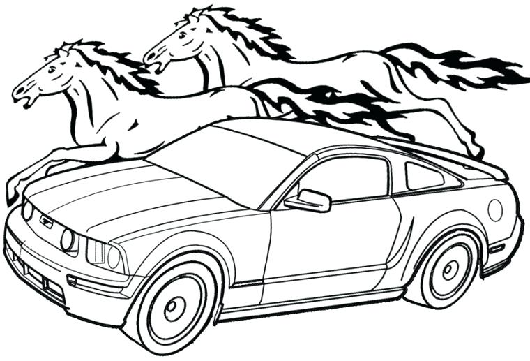 760x517 Coloring Pages Mustang