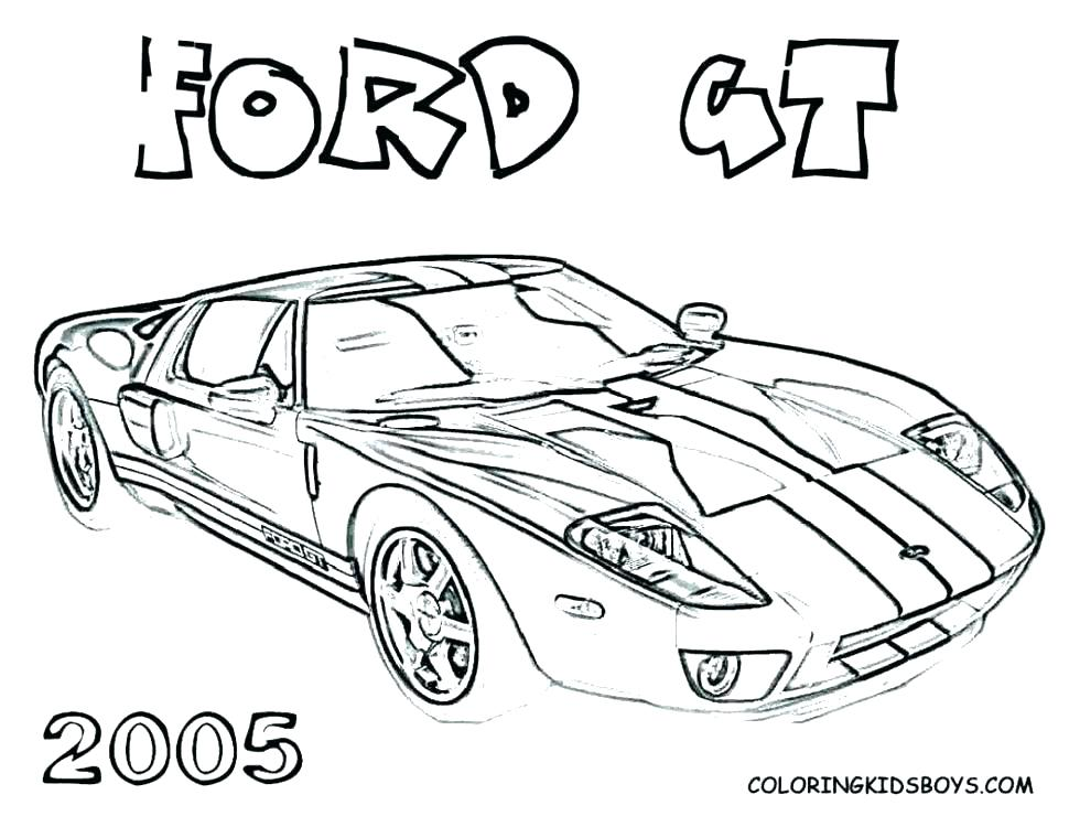 970x750 Mustang Coloring Pages