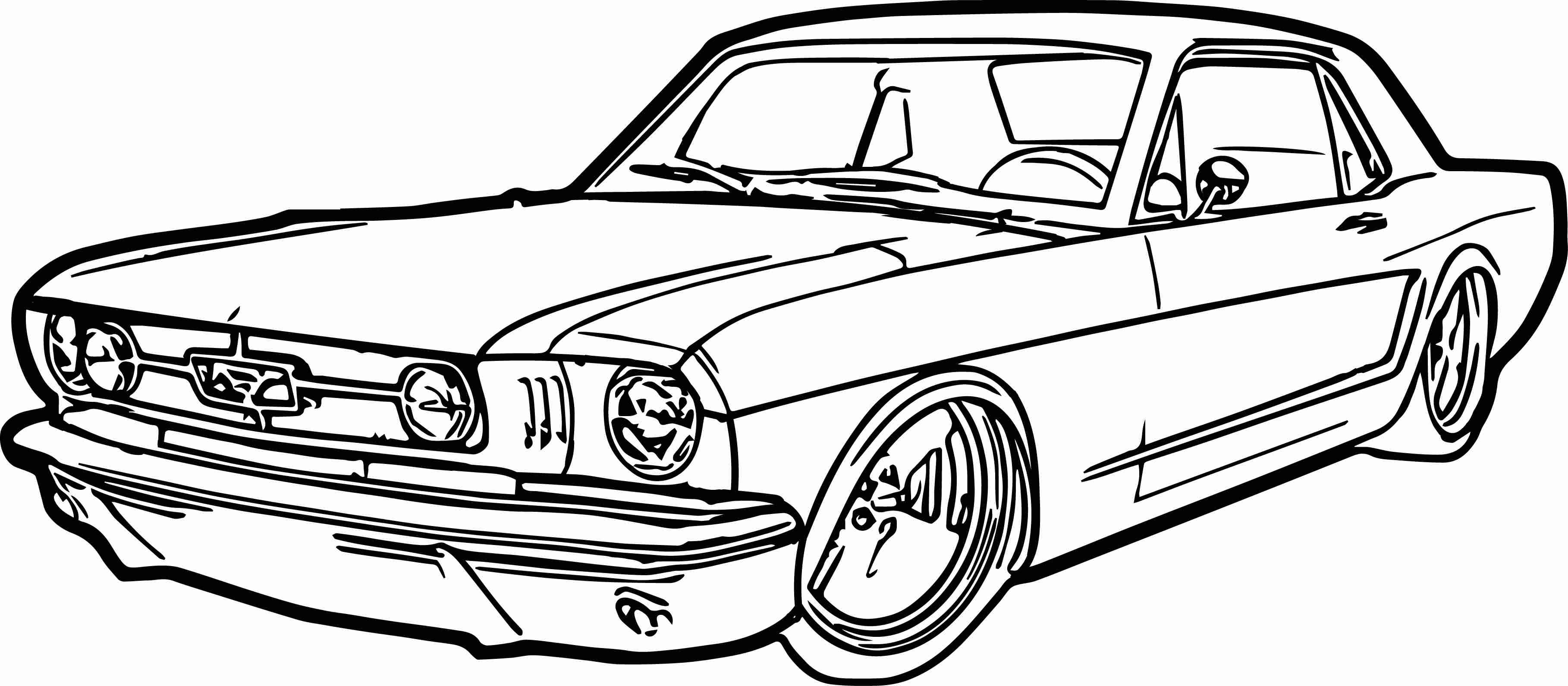 3635x1591 Ford Mustang Car Coloring Page Wecoloringpage Unusual Pages