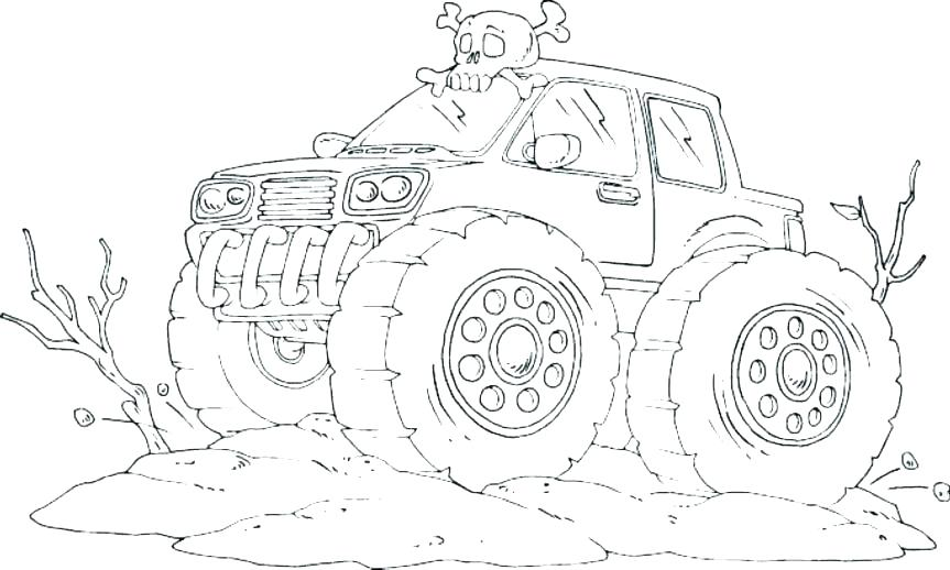 863x518 Ford Coloring Pages