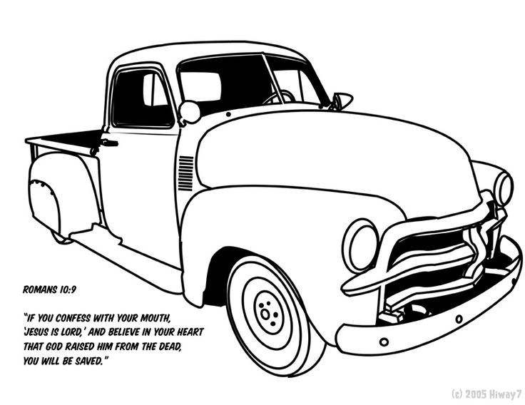 736x568 Vintage Truck Color Book Pages Chevy Truck