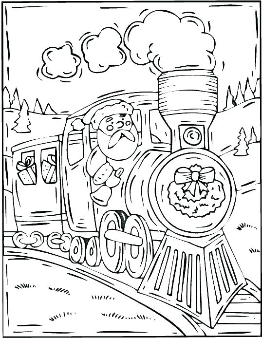 538x694 Polar Express Free Colouring Pages Coloring Pages Train Polar