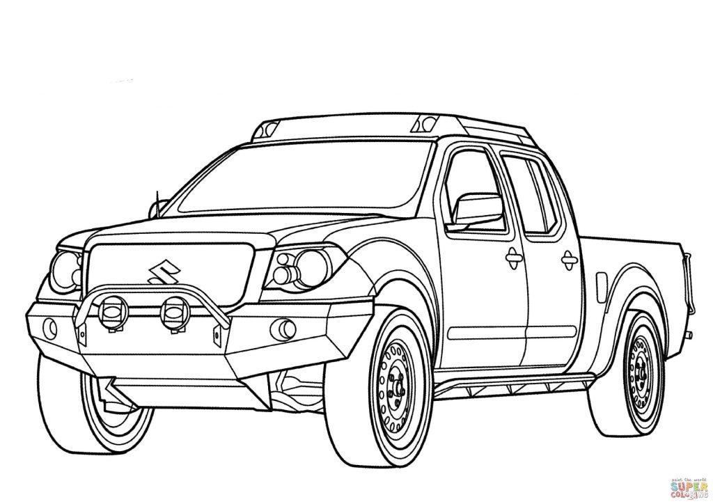1024x724 Suzuki Equator Car Coloring Page