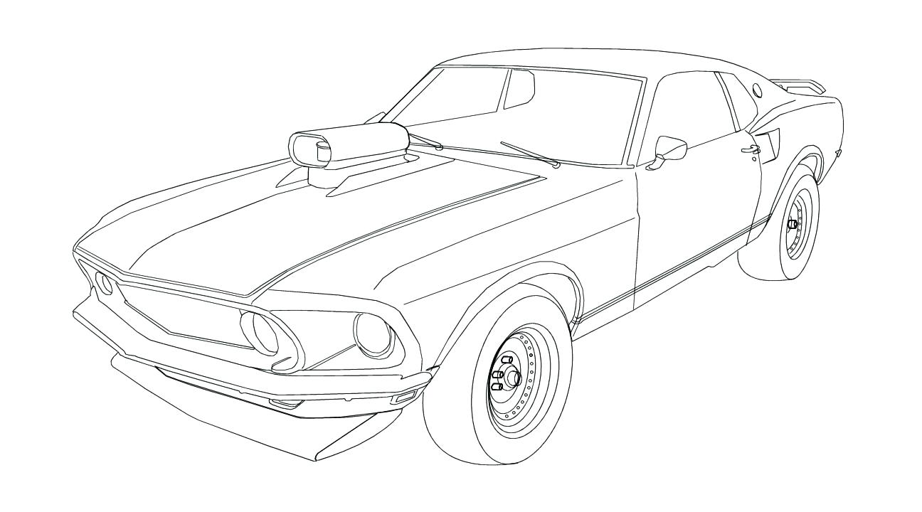 1296x720 Coloring Page Ford Coloring Pages Free Of Logo Mustang Lifted